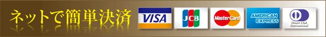 ネットで簡単クレジット決済。