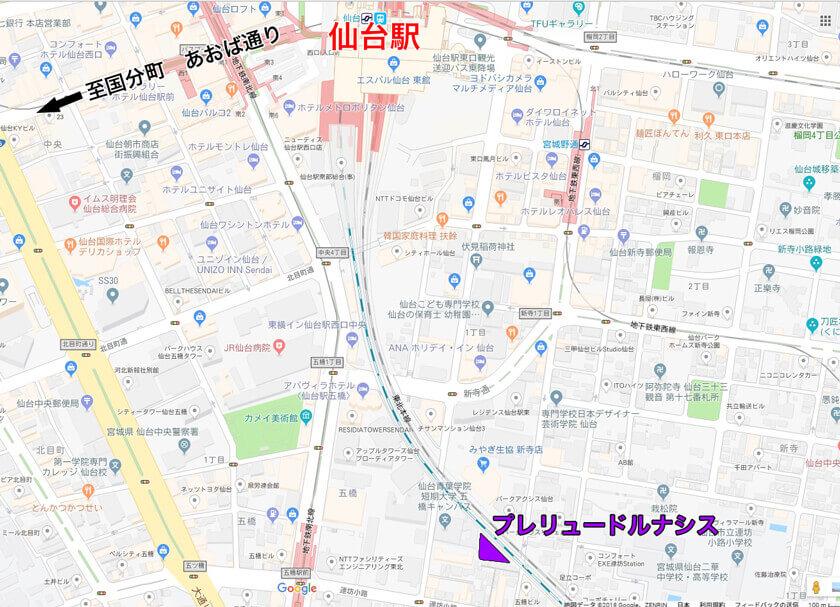 その他の仙台駅周辺ラブホテルマップ